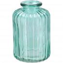 groothandel Woondecoratie: Glazen fles Petite, D6.5cm, H10cm, petrol